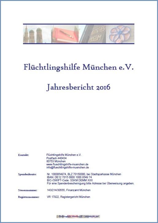 Jahresbericht 2016 Cover